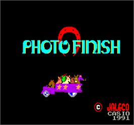 Title screen of Photo Finish on the Arcade.
