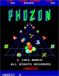 Title screen of Phozon on the Arcade.