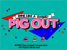 Title screen of Pig Out: Dine Like a Swine! on the Arcade.
