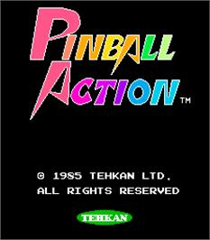Title screen of Pinball Action on the Arcade.