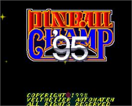 Title screen of Pinball Champ '95 on the Arcade.