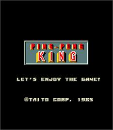 Title screen of Ping-Pong King on the Arcade.