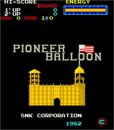 Title screen of Pioneer Balloon on the Arcade.