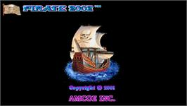 Title screen of Pirate 2002 on the Arcade.