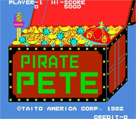 Title screen of Pirate Pete on the Arcade.