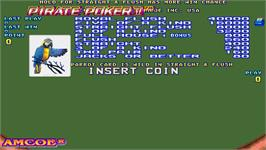 Title screen of Pirate Poker II on the Arcade.