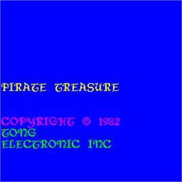 Title screen of Pirate Treasure on the Arcade.