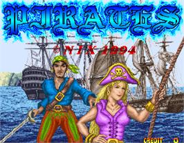 Title screen of Pirates on the Arcade.