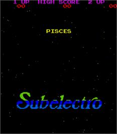 Title screen of Pisces on the Arcade.