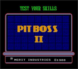 Title screen of Pit Boss II on the Arcade.