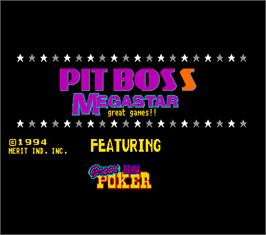 Title screen of Pit Boss Megastar on the Arcade.