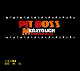 Title screen of Pit Boss Megatouch II on the Arcade.