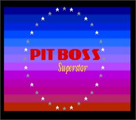 Title screen of Pit Boss Superstar on the Arcade.
