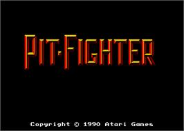 Title screen of Pit Fighter on the Arcade.