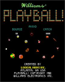 Title screen of PlayBall! on the Arcade.
