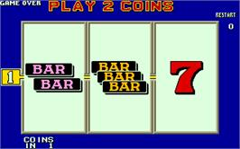 Title screen of Player's Edge Plus on the Arcade.