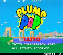 Title screen of Plump Pop on the Arcade.