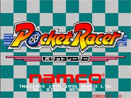 Title screen of Pocket Racer on the Arcade.