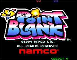 Title screen of Point Blank on the Arcade.