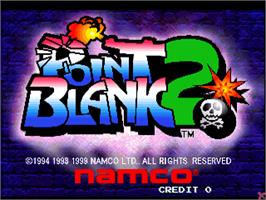 Title screen of Point Blank 2 on the Arcade.