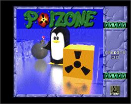Title screen of Poizone on the Arcade.