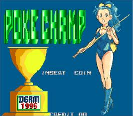 Title screen of Poke Champ on the Arcade.