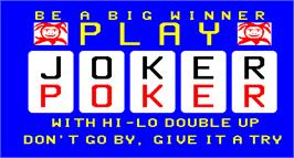 Title screen of Poker on the Arcade.