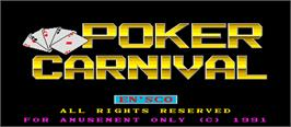 Title screen of Poker Carnival on the Arcade.