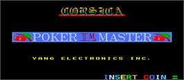 Title screen of Poker Master on the Arcade.