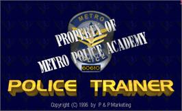 Title screen of Police Trainer on the Arcade.