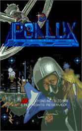 Title screen of Pollux on the Arcade.