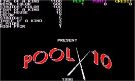 Title screen of Pool 10 on the Arcade.
