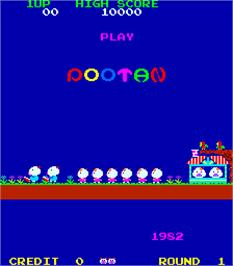 Title screen of Pootan on the Arcade.