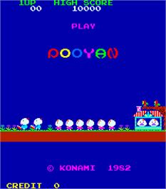 Title screen of Pooyan on the Arcade.