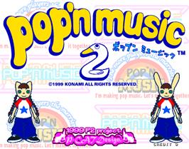 Title screen of Pop'n Music 2 on the Arcade.