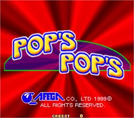 Title screen of Pop's Pop's on the Arcade.