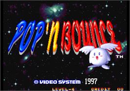 Title screen of Pop 'n Bounce / Gapporin on the Arcade.