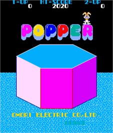 Title screen of Popper on the Arcade.