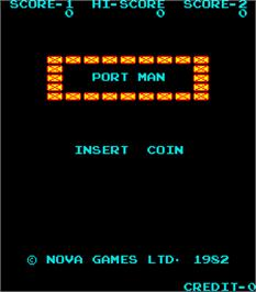 Title screen of Port Man on the Arcade.