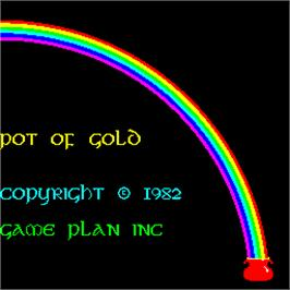 Title screen of Pot of Gold on the Arcade.