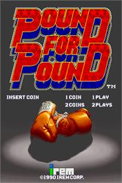 Title screen of Pound for Pound on the Arcade.