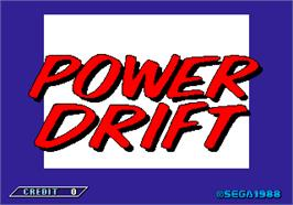 Title screen of Power Drift on the Arcade.