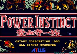 Title screen of Power Instinct on the Arcade.