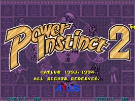 Title screen of Power Instinct 2 on the Arcade.