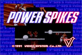 Title screen of Power Spikes on the Arcade.