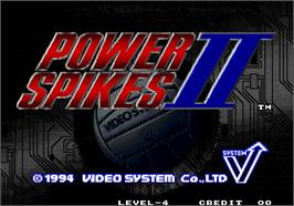 Title screen of Power Spikes II on the Arcade.