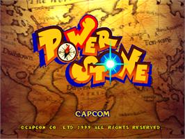 Title screen of Power Stone on the Arcade.
