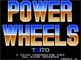 Title screen of Power Wheels on the Arcade.