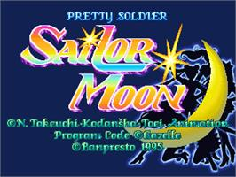 Title screen of Pretty Soldier Sailor Moon on the Arcade.
