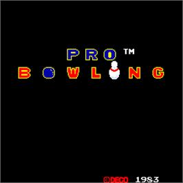 Title screen of Pro Bowling on the Arcade.